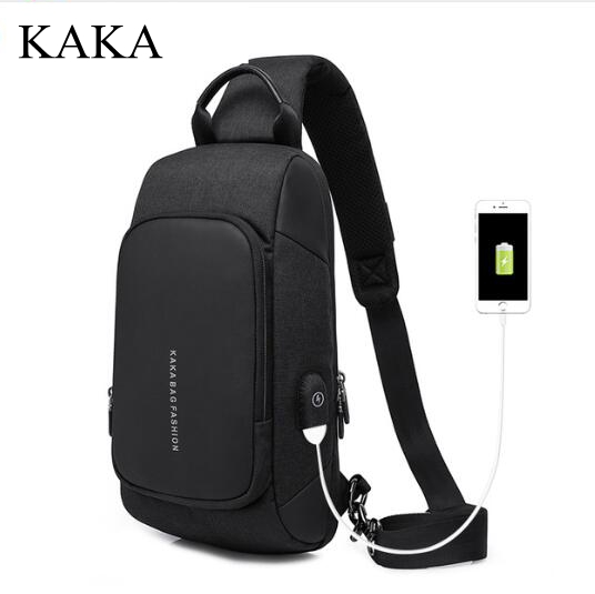 KAKA Brand Men Messenger Bag shoulder bag men chest pack Day pack Cross body Back Pack Men's Chest Shoulder Sling bag for man men s genuine leather belt buckle back pack shoulder messenger unbalance sling chest bag