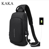 KAKA Brand Men Messenger Bag shoulder bag men chest pack Day pack Cross body Back Pack Men's Chest Shoulder Sling bag for man