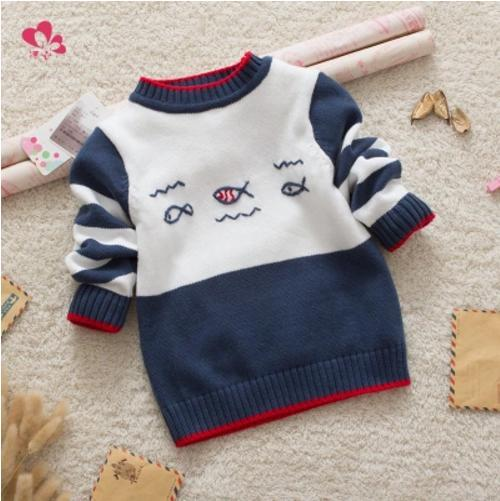 Baby Long-Sleeved Sweater Sweater Cotton Sweater Covered Button Fits True To Size Take Your Normal Size Unisex Sweaters Cardigan