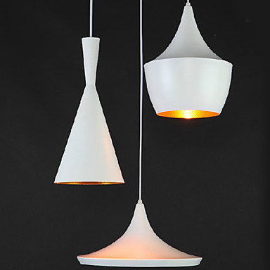 Luminaire LED Modern Pendant Light Handing Lamp,3 Lights,American Style White Iron Aluminum Spinning Free Shipping