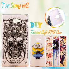 Soft TPU Cover Cases For Sony Xperia M2 S50H D2303 D2305 D2306 dual D2302 4.8 inch Cases skin cover Silicone Phone Shell housing