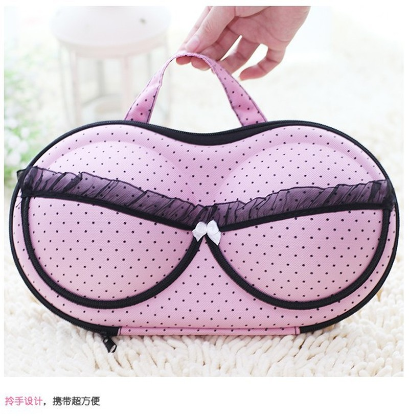 4 Colors Underwear Storage Bag Box Protect Bra Organizer Container Underwear Case Travel Portable Women Bra Storage Case(China)