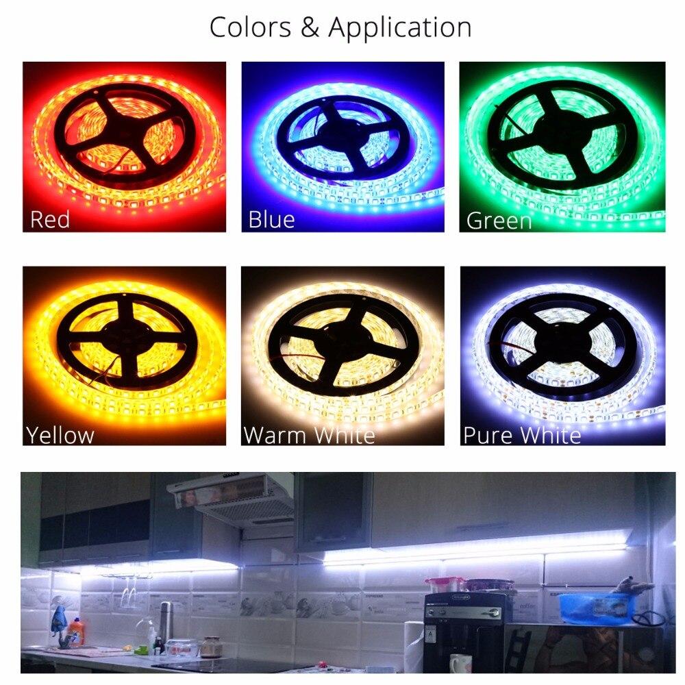 DC12V 5M LED Strip 5050 RGB, Luz flexible 5050 LED Strip No - Iluminación LED - foto 5