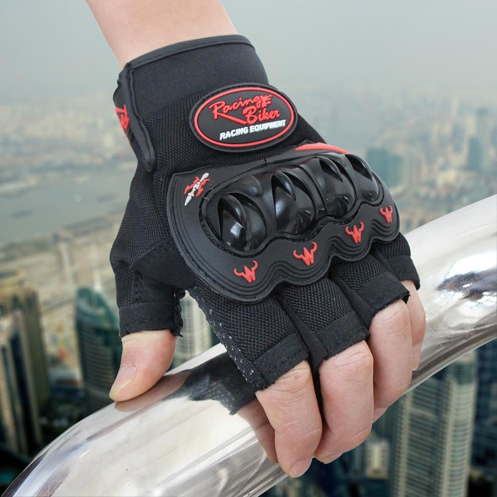 Half Finger Motorcycle Gloves Motocross Luvas Guantes Green Color Protective Gears Summer Glove For Men Women M - XXL SC04B