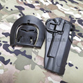 Arma coldre tático C Q C 1911 Coldre Tático Colt 1911 Coldres de plástico rígido Preto