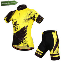 WOSAWE Men's Sports Wear Motocross MTB Bike Bicycle Cycling Jersey Set Short Sleeve Cycling Clothing