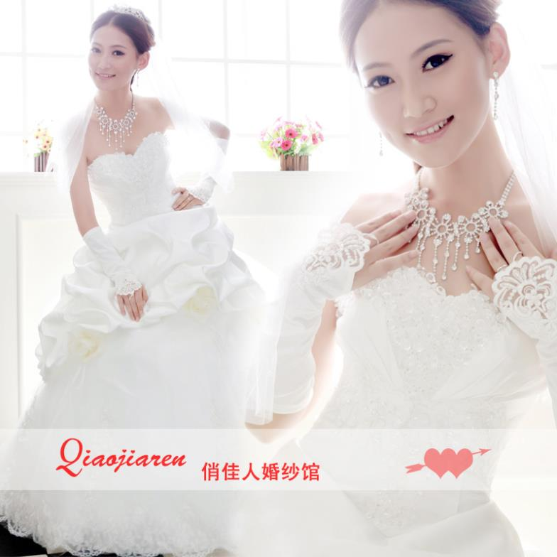 Top Bride-Dresses Wedding Formal Lace Princess of Bandage Embroidery Diamond-Tube Elegant