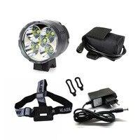 5 X XM L T6Bicycle Front Light 6000 Lumen LED Bike Light Waterproof LED Headlamp
