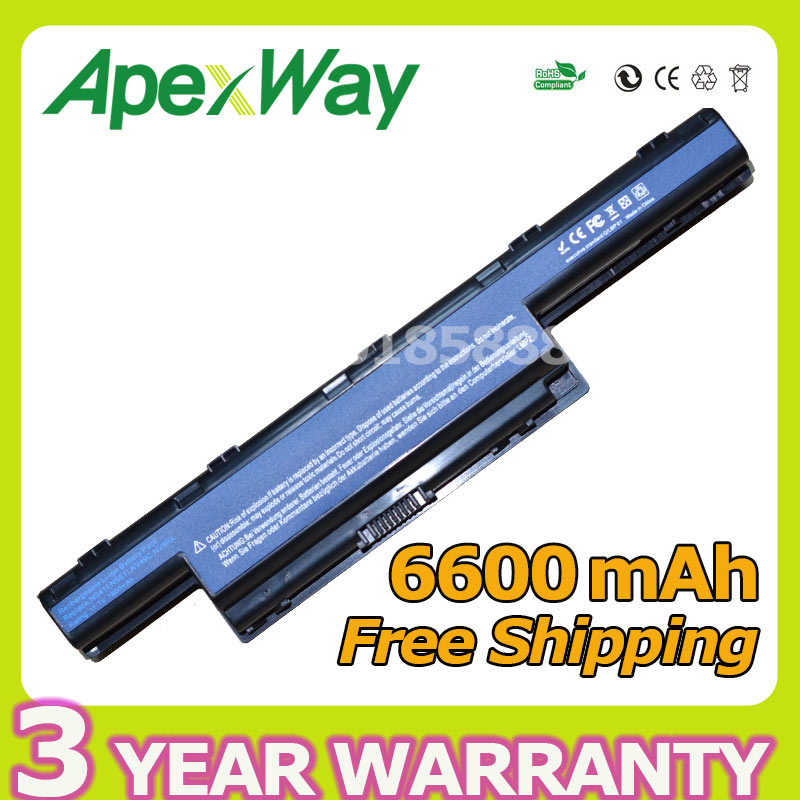 Apexway 6600mAh laptop Battery for Acer AS10D31 AS10D75 AS10D51 AS10D71 Aspire 4741 5741 5750g 5552g 5742g 5551g 5560g 5733z laptop battery for acer aspire 4741 5551 5552 5552g 5551g 5560 5560g 5733 5733z 5741 as10d31 as10d51 as10d61 as10d71 as10d75