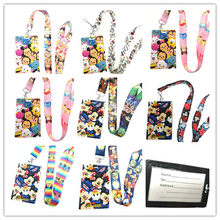 Retail 1 pcs cartoon tsum mickey minnie pvc Kaarthouder Identiteit Badge met Lanyard Neck Strap Card Bus ID Houders met Sleutelhanger(China)
