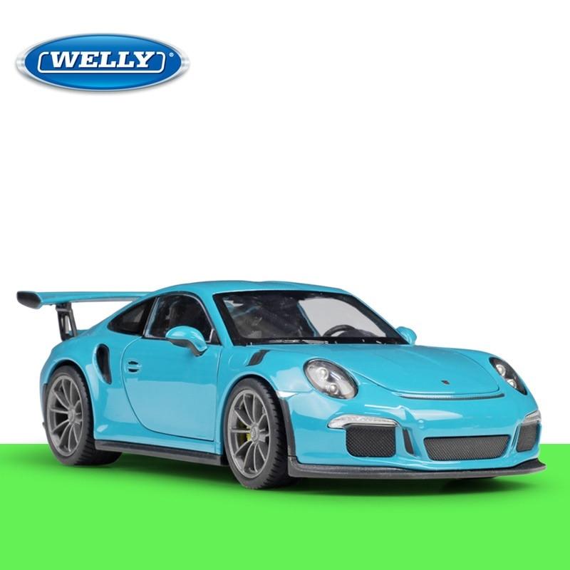 1:24 Welly Porsche 911 GT3 RS Diecast Model Car