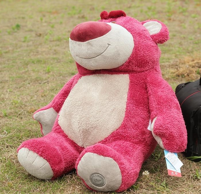 big lovely plush teddy bear toy cute stuffed strawberry teddy bear gift about 60cm new creative plush bear toy cute lying bow teddy bear doll gift about 50cm