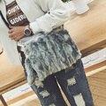 Имитация Кролик волосы Сумка Leopard Сцепления мешок Плюшевые Сумки Дамы Bolsa Feminina Болса Женщины Сумки сумка