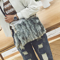 Imitation Rabbit's hair Messenger Bag Leopard Clutch bag Plush Handbags Ladies  Bolsa Feminina Bolsa Female Handbag shoulder bag