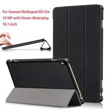 Case For Huawei MediaPad M3 Lite 10 WP 10.1 inch PU Leather Tablet Funda Cover Honor Waterplay HDN-W09 HDN-L09