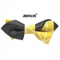 JEMYGINS Cotton Linen Gold Stamp Manual Unique Foremost Fashion Men Male Bow Tie Inconceivability High Quality