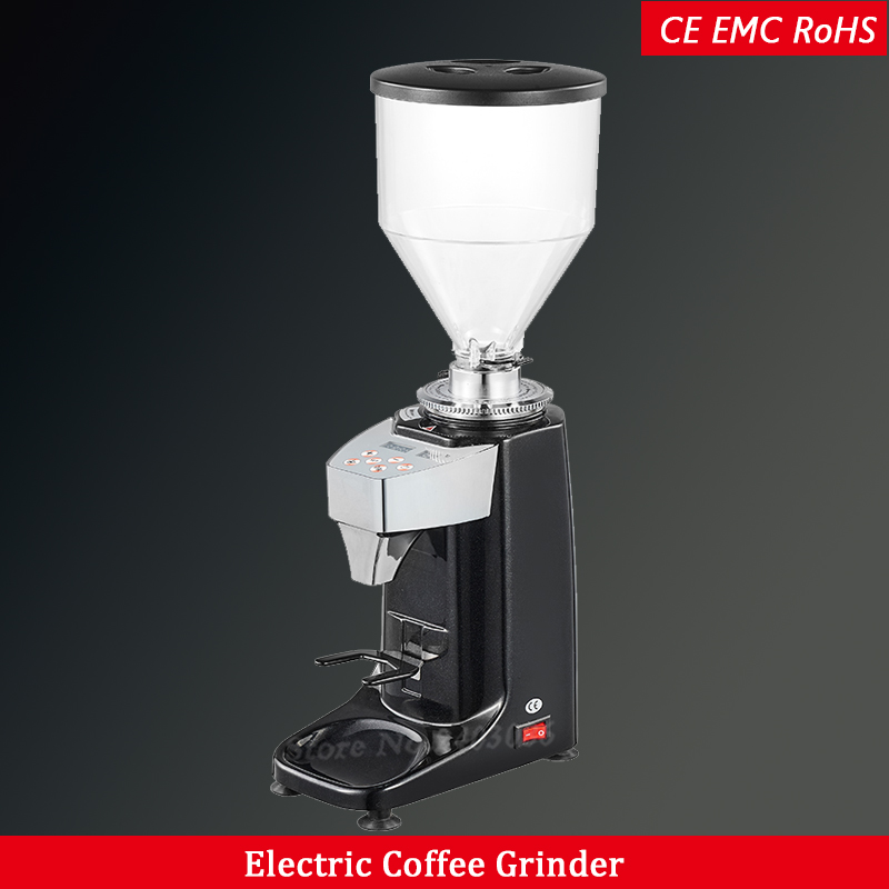 mini electric espresso burr coffee grinder blade type coffee bean grinding machine aluminum housing 250w
