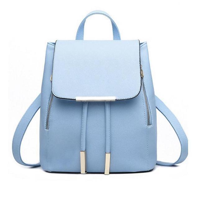 Black School Backpack Female PU Leather Backpack Japanese Street Bag  Women s School Bag for Adolescent Girls feba6f85a5