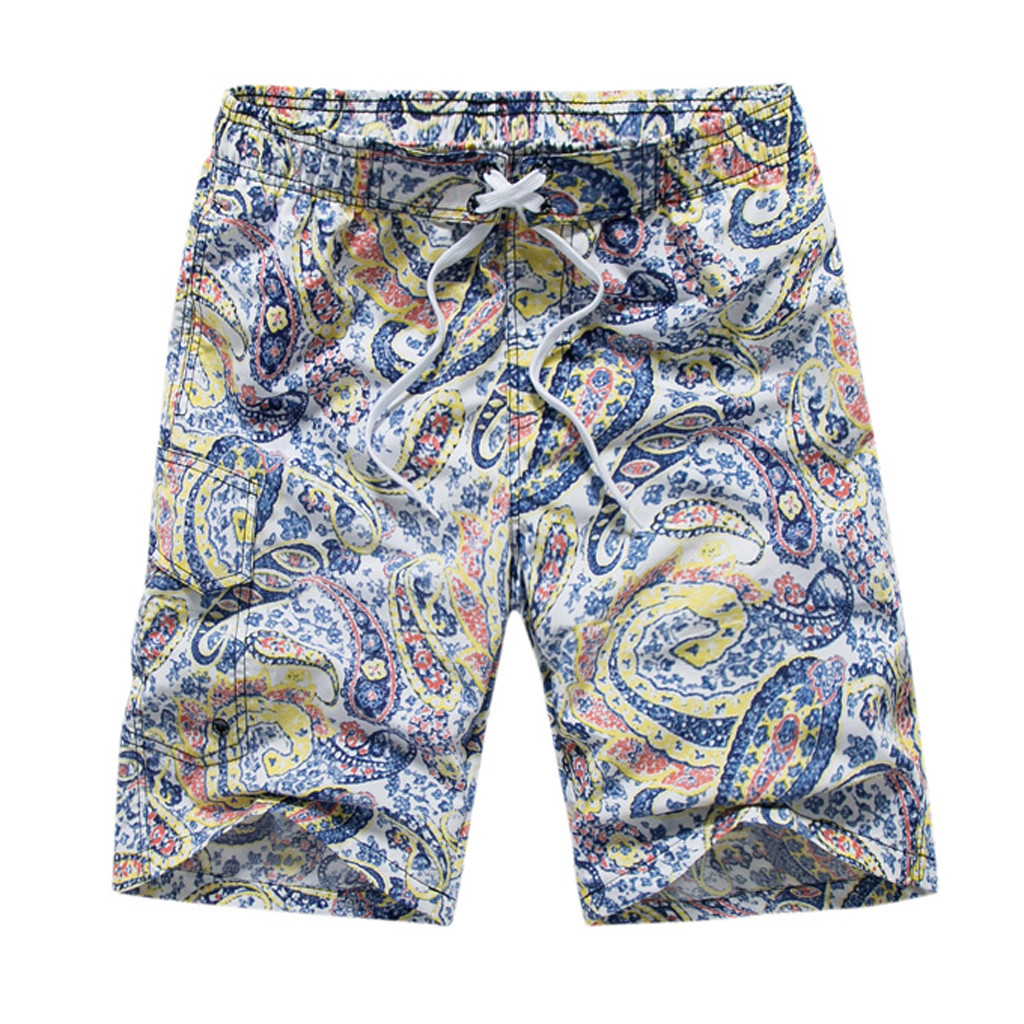 Men's Casual Ethnic Style Printing Beach Surfing Loose   Short   Pants surf men   shorts   c0322