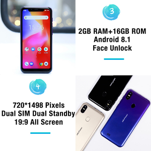 Image 4 - Ulefone S10 Pro Mobile Phone Android 8.1 5.7 inch MT6739WA Quad Core 2GB RAM 16GB ROM 16MP+5MP Rear Dual Camera 4G Smartphone