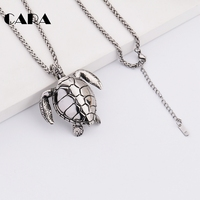 CARA New Arrival 316 Stainless Steel Cute SEA TURTLE Charm Necklace Unisex Hip Hop Punk Jewelry