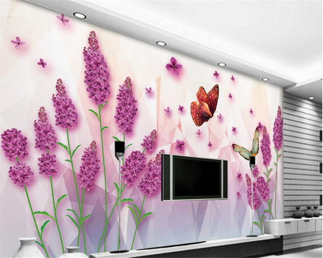 beibehang High end indoor aesthetic 3d wallpaper free to fly ...