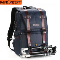 K&F CONCEPT Shockproof Camera Backpack Waterproof Multifunctional Travel/Photo/Video/Tripod Bag With Dual layer Design For DLSR