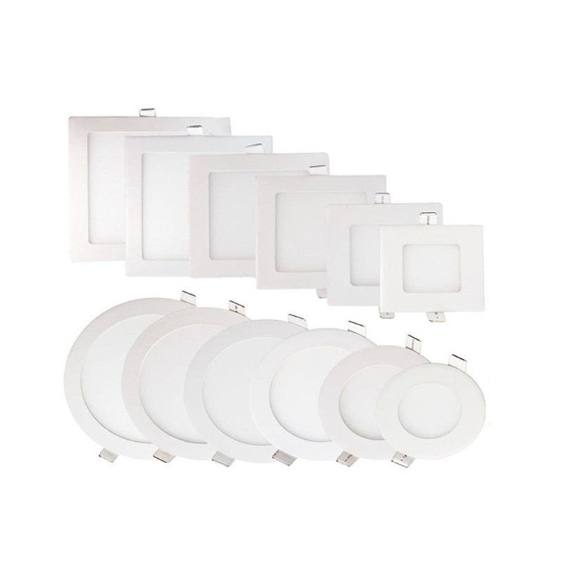 6w 12w 18w 24w Led Recessed Ceiling Flat Panel Down Light: 50pcs DHL 3W 4W 6W 9W 12W 15W 18W 24W LED Recessed Ceiling