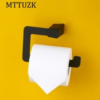 MTTUZK black Stainless steel paper towel rack bathroom paper holder roll Holder tissue holder toilet accessories free shipping