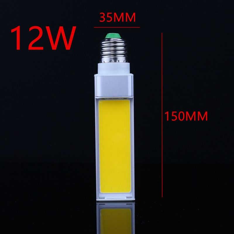 1 יח'\חבילה אופקית Plug מנורת LED הנורה 10 W 12 W 15 W COB LED E27 G24 G23 COB תירס אור מנורה חם לבן AC85V-265V צד תאורה