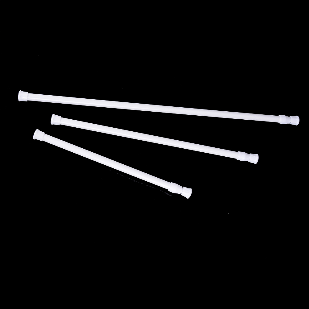 3Sizes Extendable Adjustable Spring Tension Rod Rail Pole Window Curtain Shower Curtain Wardrobe Bathroom Products