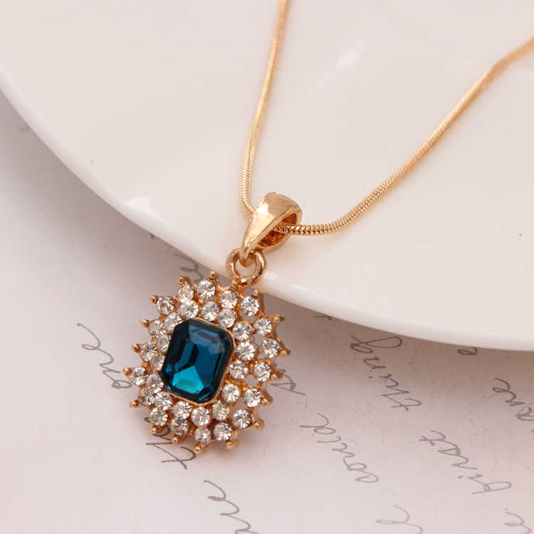 MINHIN זהב מצופה שרשרת שרשרת לנשים יוקרה חתונה ריינסטון תכשיטי סט כלה שרשרת/עגילי פנינה תליון סט