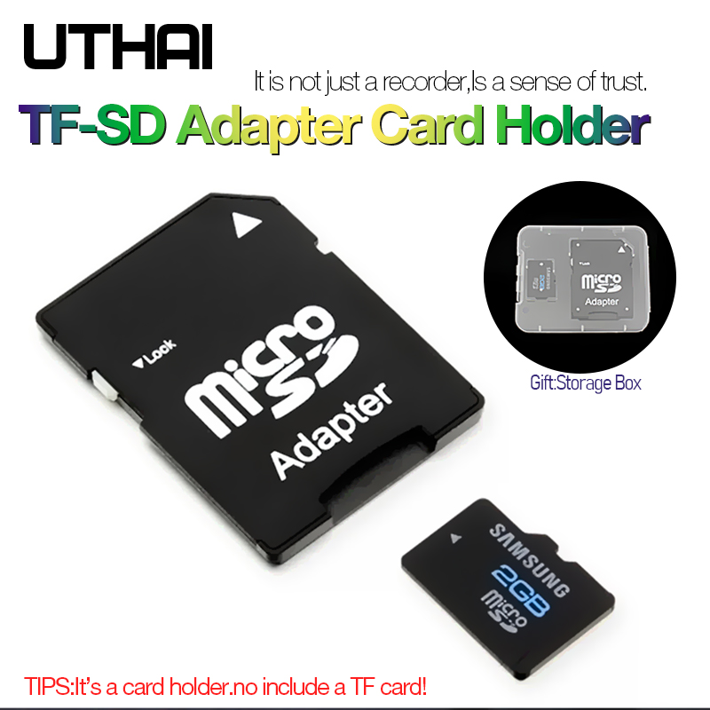 UTHAI C19 TF SD Memory Card Adapter SD Card Comptabile With MicroSD MicroSDHC MicroSDXC Adapters Suport Max Capacity To 2TB Case