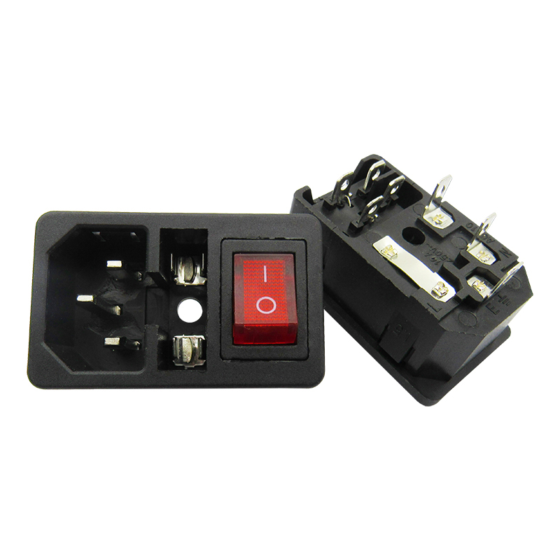 Ac 01 Card Type Word Socket With Light Switch With Fuse