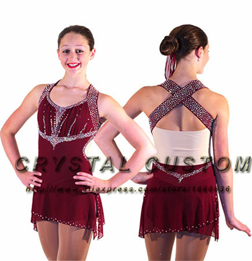 US $272.99 |Girls Figure Skating Dresses For Competition Fashion New Brand  Ice Skating Dresses For Women DR3450-in Ballroom from Novelty & Special Use  ...