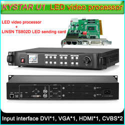 KYSTAR-U1 LED Video Processor + TS802D LED Sending card, Full color LED display screen Seamless Switching Video processor