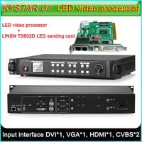 KYSTAR U1 LED Video Processor + TS802D LED Sending card, Full color LED display screen Seamless Switching Video processor