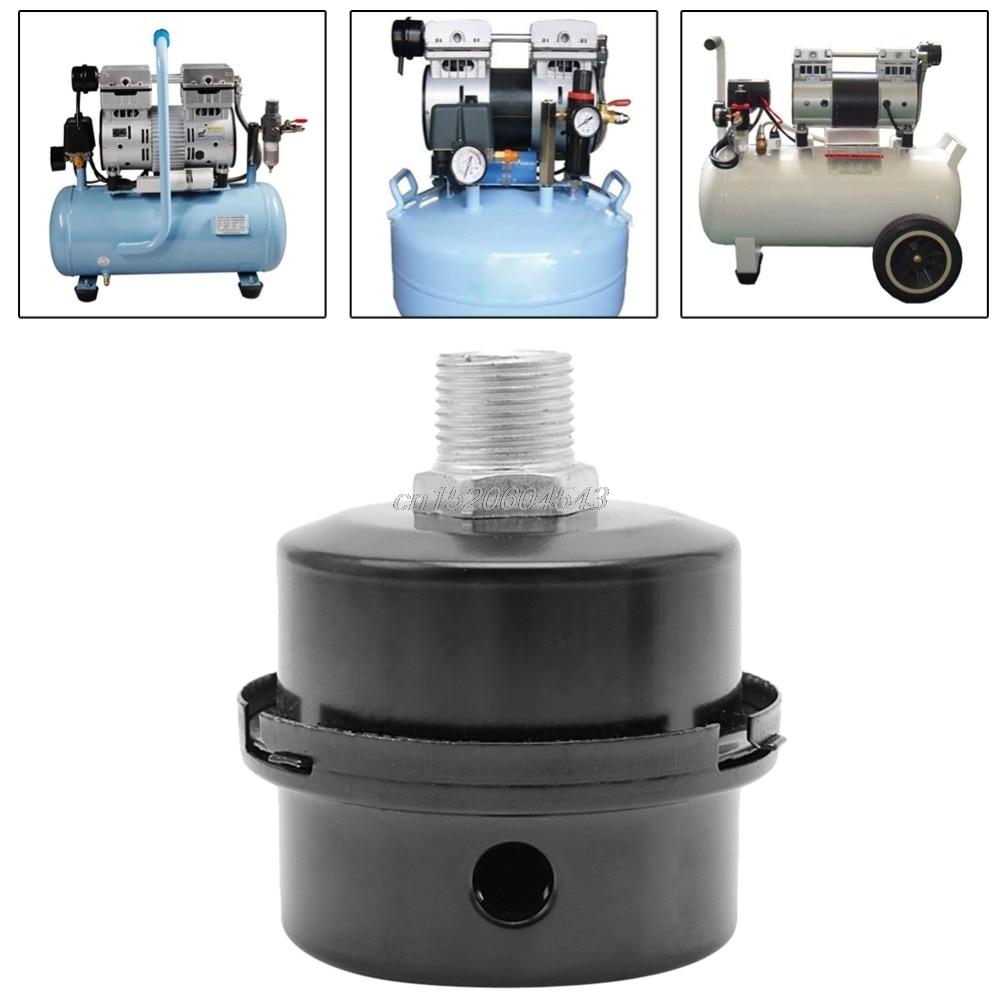 12.5mm/16mm/20mm Screw Thread Silencer Noise Filter Muffler for Air Pump Compressor New R06 Drop Ship cnbtr compressor 20mm male threaded air intake silencer filter black metal shell