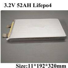 Marca 3,2 v 52Ah Lifepo4 celular alto drenaje 150A Lifepo4 prismático 50ah para 12V 24V Lifepo de alta capacidad Ebike Tour Entrenador carrito de Golf