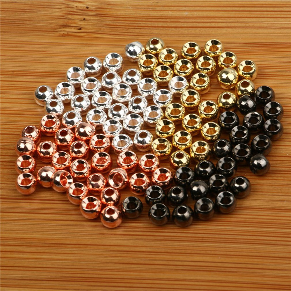 25pcs Tungsten Slotted Fly Tying Head Beads Nymph Head Ball Beads Fly Tying Materials 2/2.4/2.8/3.3/3.8/4.6mm