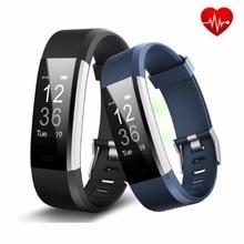 ID115 HR Mais Inteligente Pulseira Bluetooth Em Tempo Real Monitor de Freqüência Cardíaca de Fitness/GPS Rastreador Inteligente Pulseira para iOS Android telefone