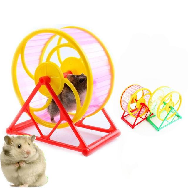 Pet колеса игрушка играть с держателем пластик грызунок хомяк Бег Упражнение Полезная training игрушка, Прямая поставка