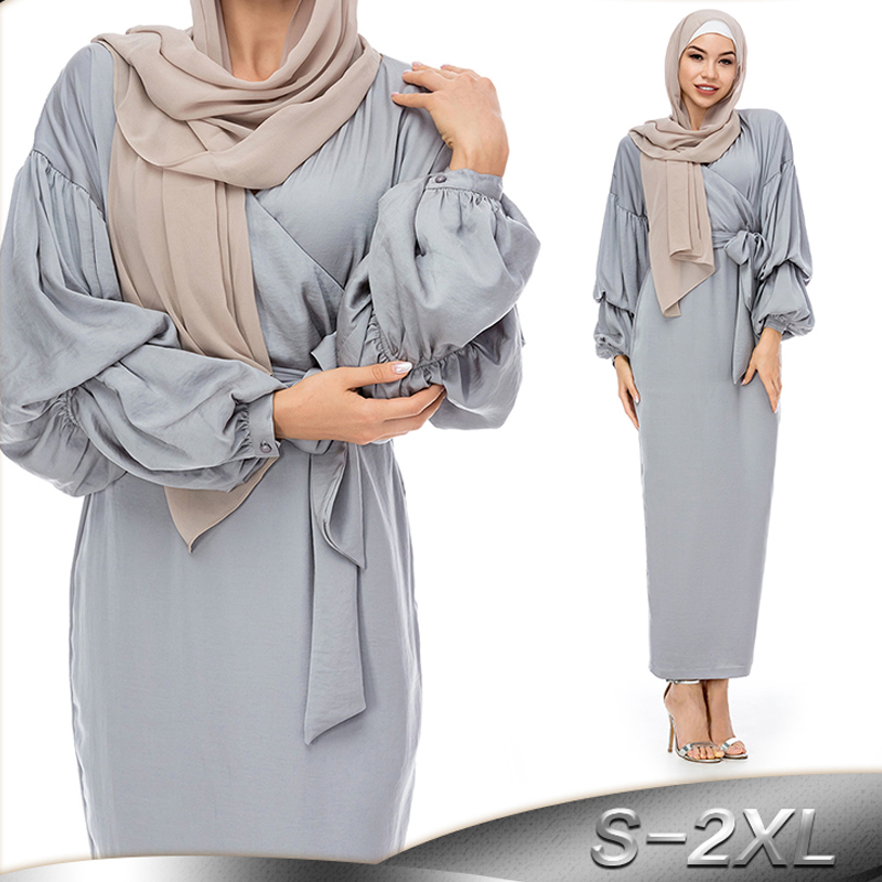 2019 Kaftan Abaya Dubai Turkey Hijab Muslim Dress Caftan Islamic Clothing Abayas For Women Tesettur Elbise Jilbab Ramadan Robe