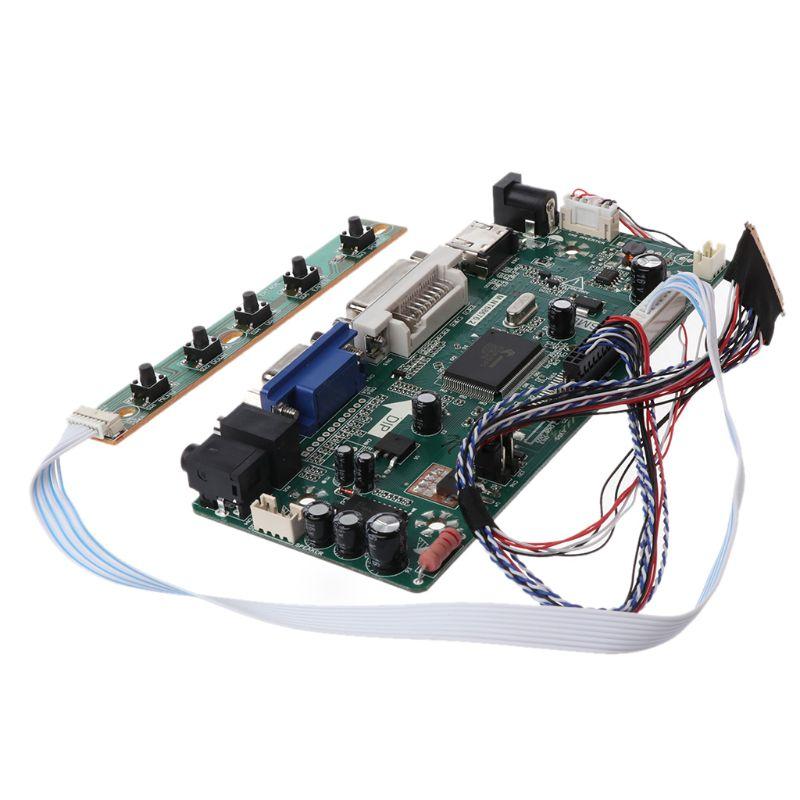 "Image 2 - Плата контроллера ЖК дисплей VGA, HDMI, DVI аудио ПК Драйвер модуля DIY Kit 15,6 ""Дисплей B156XW02 1366X768 1ch 6/8 bit 40 Pin Панель-in Сменные детали и аксессуары from Бытовая электроника"