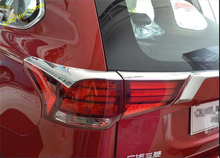 цена на Exterior New For Mitsubishi Outlander 2016 ABS Chrome Rear Tail Light Eyelid Cover Trim Accessories