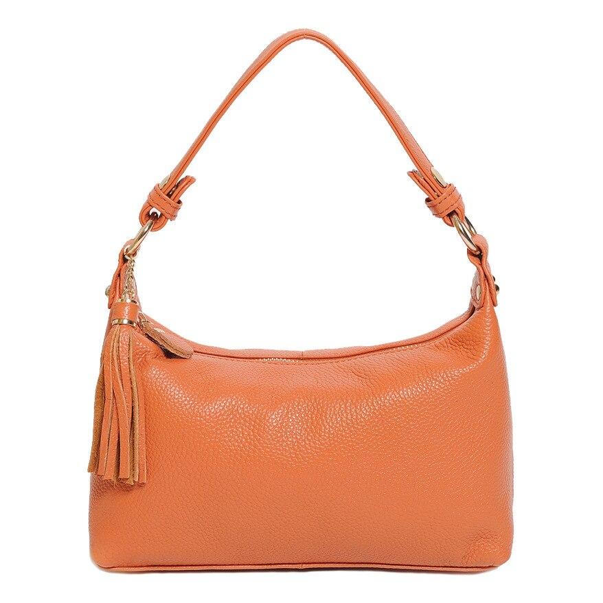 2016 robe sacs à bandoulière pour femmes en cuir de vachette véritable sac à main gland femme sac à bandoulière sac à bandoulière jaune Mujer Bolsa