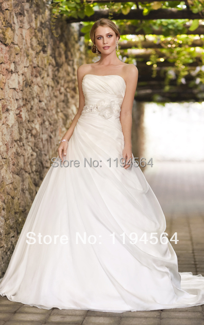 fashion off the shoulder scoop wedding dresses a line white organza bridal shower gown free