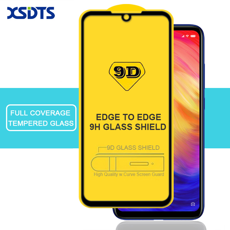 XSDTS <font><b>9D</b></font> Tempered Glass For <font><b>Xiaomi</b></font> <font><b>Redmi</b></font> Note 6 5 Pro 7 4 <font><b>4X</b></font> 6A 5A S2 A2 Lite Full Cover Full Glue Screen Protector Glass image