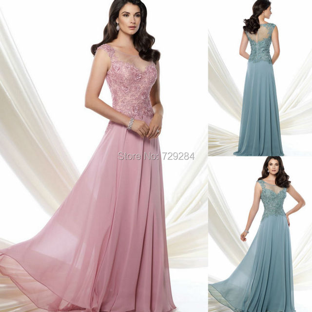 0044f900adf Scoop Neckline Lace Appliques Modest Gown Bride Wedding Dresses Mother  Bride Mother Of The Groom Dresses For Wedding