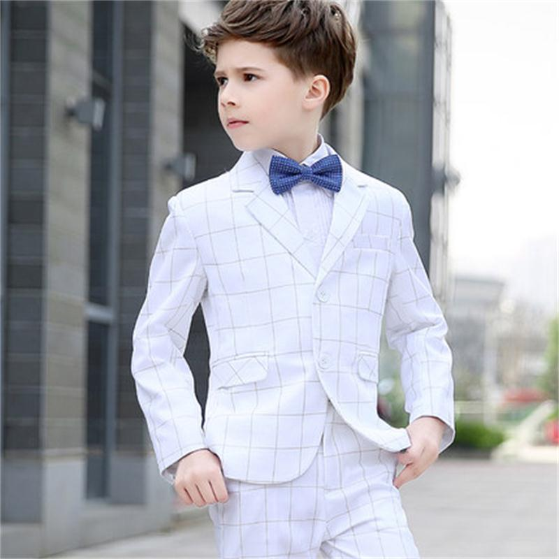High quality 2018 new Korean boy's white suit. Children's small suit. Flower girl dress boy presides. sonex pagri 4262